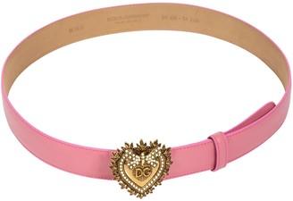 Dolce & Gabbana Heart Logo Plaque Belt
