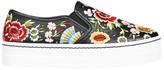 Alice + Olivia Sasha Floral Embroidery Stud Slip-On Sneaker