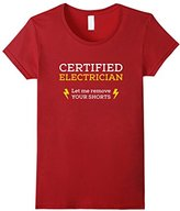 Women's Electrician - Let me remove your shorts T-shirt Large