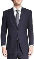 Giorgio Armani Taylor Textured Herringbone Wool Suit, Navy