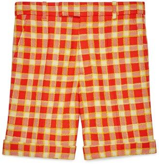 Gucci Check tweed shorts