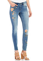 Miraclebody Jeans Faith Rose Embroidered Skinny Jeans