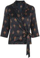 Topshop Geo wrap pyjama shirt