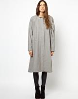 Monki Collarless Maxi Coat