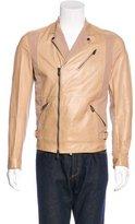 Bottega Veneta Leather-Paneled Moto Jacket