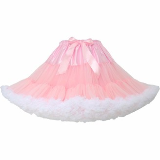 TaoQi Womens Bubble Skirt Pettiskirt Tutu Ball Gown Fluffy Skirt Petticoat (M