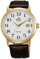 Orient ER27005W Men's Symphony Dial Gold Tone Leather Strap Mechanical Automatic Watch
