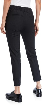 Brunello Cucinelli Tropical Wool Crop Pants