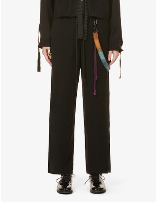 Song For The Mute High-rise wide-leg crepe trousers