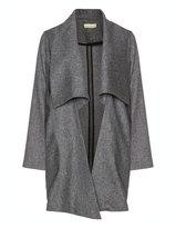 Isolde Roth Plus Size Herringbone wool coat