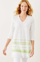 J. Jill Linen & Cotton Fringed Sweater Tunic