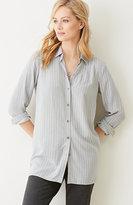 J. Jill Striped Button-Front Shirt