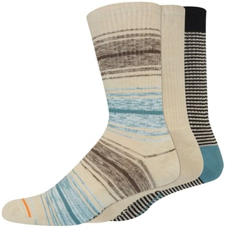 Dockers Men's Striped Lightweight Cushioned Sole Crew Socks (3 pack)