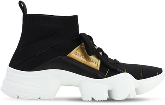 Givenchy Jaw Sock Sneakers W/ Leather Details