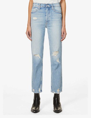 Mother The Tomcat straight mid-rise jeans