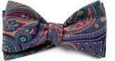 The Tie Bar Fuchsia Empire Paisley Bow Tie
