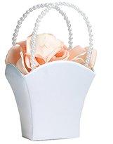 Lillian Rose White Flower Basket Flower Girl Basket