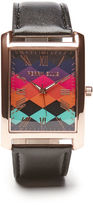 Perry Ellis Multi Color Square Watch