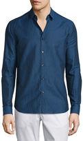 Theory Zack Linen-Blend Long-Sleeve Shirt