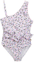 Kate Spade One Shoulder Printed One-Piece Swimsuit (Toddler & Little Girls)