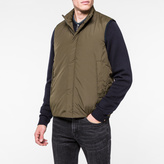 Paul Smith Men's Khaki Lightweight Gilet