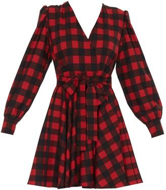 MSGM Checked Wrap Dress