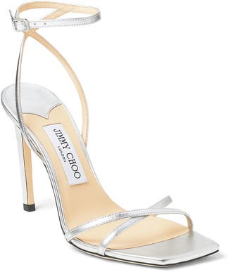Jimmy Choo 100mm Metz Metallic Sandals