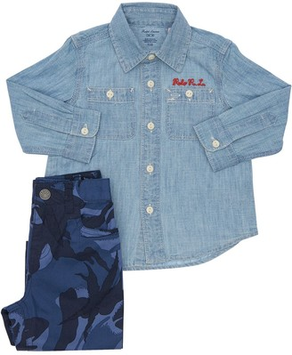 Ralph Lauren Cotton Shirt & Camouflage Pants
