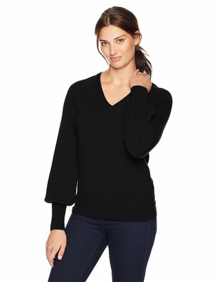 Lark & Ro Amazon Brand Women's Sweaters V Neck Cashmere Sweater with Bell Sleeves