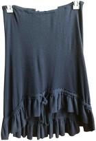 Anne Valerie Hash Black Wool Skirt for Women