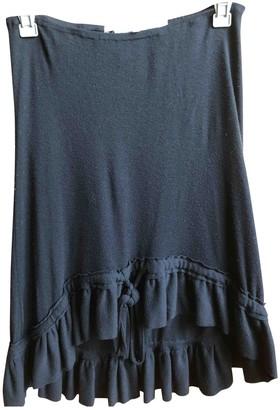 Anne Valerie Hash Black Wool Skirts
