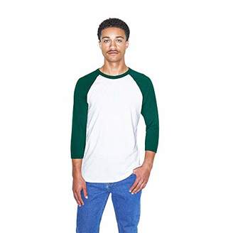 American Apparel Men's 50/50 Raglan 3/4 Sleeve T-Shirt