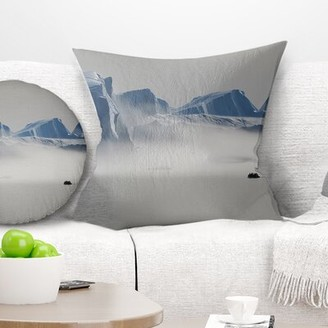 "Greenland East Urban Home Landscape Photography Nature of Pillow East Urban Home Size: 16"" x 16"", Product Type: Throw Pillow"