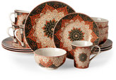 222 Fifth Kashan Terracotta 16-Piece Dinnerware Set