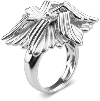 Bellus Domina White Gold Plated Sea Flower Ring