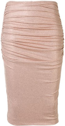 Alexandre Vauthier Ruched Pencil Skirt