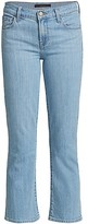Thumbnail for your product : J Brand Selena Mid-Rise Cropped Boot-Cut Jeans