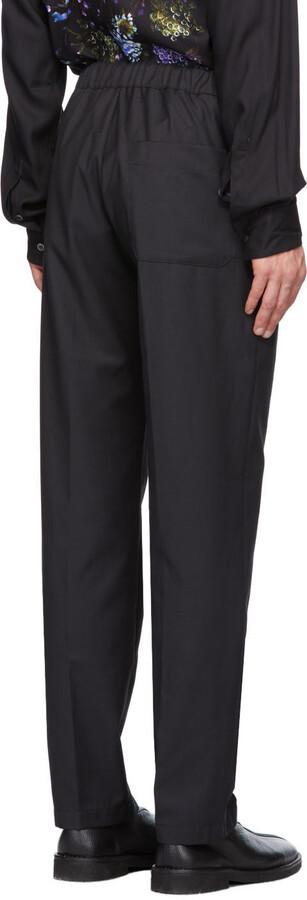 Thumbnail for your product : Davi Paris Black Brouillard Trousers
