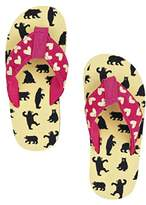 Hatley Lbh Kids Flip Flops-Girl Bears on Natural Beach and Pool Shoes,XL Child UK