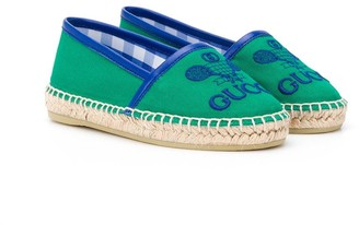 Gucci Kids Gucci Tennis embroidered espadrilles