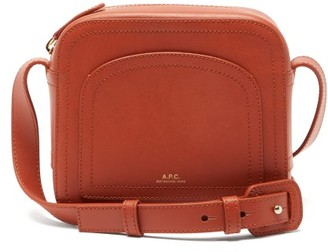 A.P.C. Louisette Smooth-leather Cross-body Bag - Womens - Brown