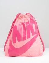 Nike Heritage Drawstring Backpack In Pink Ba5351-627