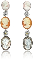 Nuovegioie Mia & Beverly Cameo Drop Earrings