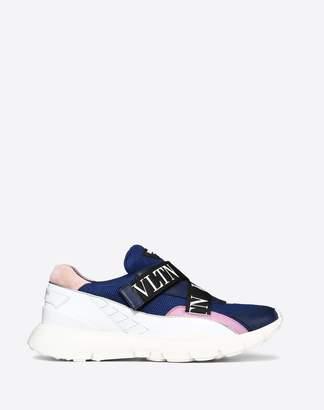 Valentino Garavani Vltn Heroes Her Sneaker Women Blue Polyester 100% 36.5