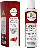 Coconut Oil Body Wash for Men & Women – Moisturizing Body Wash with Therapeutic Grade Essential Oil Argan Raspberry & Vitamin E – Natural Shower Gel – 8oz – Paraben & Cruelty Free