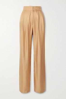 TOVE Remi Silk-twill Tapered Pants - Gold