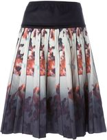 Marc Jacobs floral degradé print skirt - women - Silk/Cotton/Spandex/Elastane - 6