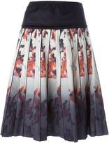 Marc Jacobs floral degradé print skirt - women - Silk/Cotton/Spandex/Elastane - 8