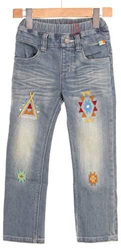 Kriff Mayer (クリフ メイヤー) - クリフメイヤー キッズ オルテガ刺繍デニム パンツ 120cm ライトブルー 1434012K