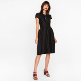 Paul Smith Women's Black Wool-Silk Dress With Structure Detailing